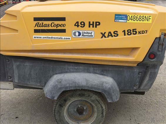 2014 Atlas Copco XAS185KDPEIT4 Air Compressor