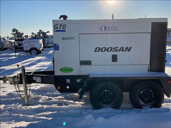 2015 Doosan G70WJD-2A-FX-T3 Diesel Generator
