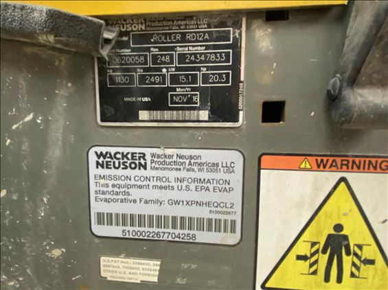 2017 Wacker RD 12A-90 Ride-On Roller