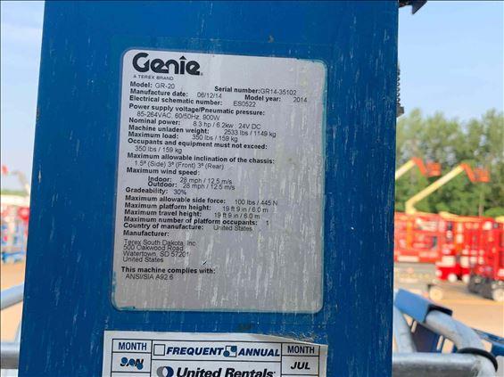 2014 Genie GR-20 Scissor Lift