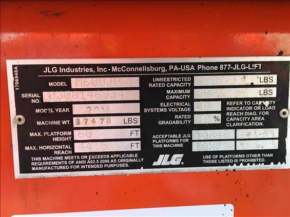 2011 JLG M600JP Boom Lift