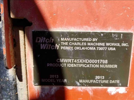 2013 Ditch Witch RT45 Trencher