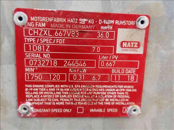 2013 Hatz Diesel 6PWDHS1D81ZSK Pump