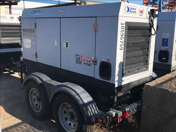 2017 Wacker Neuson G50 T4F Diesel Generator
