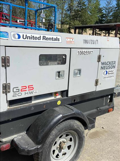 2017 Wacker G25 T4F Diesel Generator