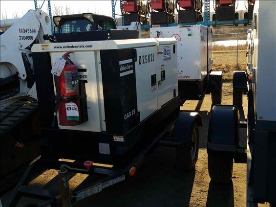 2014 Atlas Copco QAS25 Diesel Generator