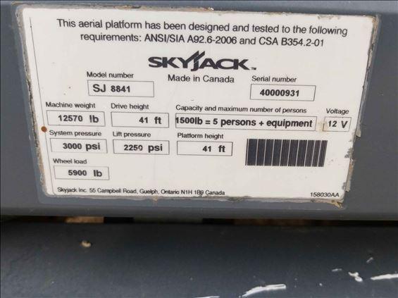2012 Skyjack SJ8841RT Scissor Lift