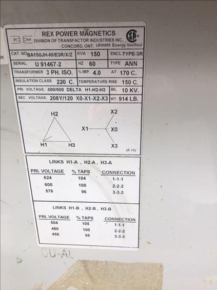 2013 HIPOWER HP150KVASTP-C Transformer