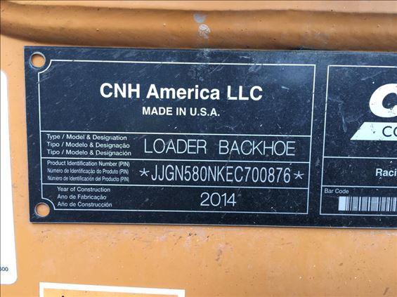2014 Case 580N Backhoe
