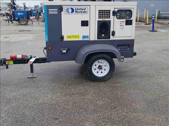 2017 Atlas Copco QAS 45 FT4 Diesel Generator