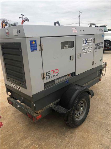 2016 Wacker Neuson G 70 Diesel Generator
