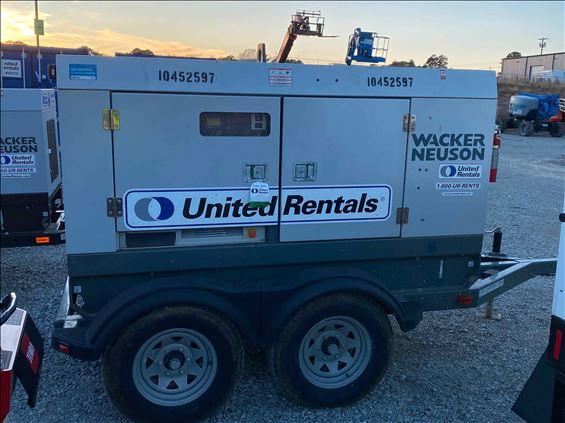 2016 Wacker Neuson G50 T4F Diesel Generator