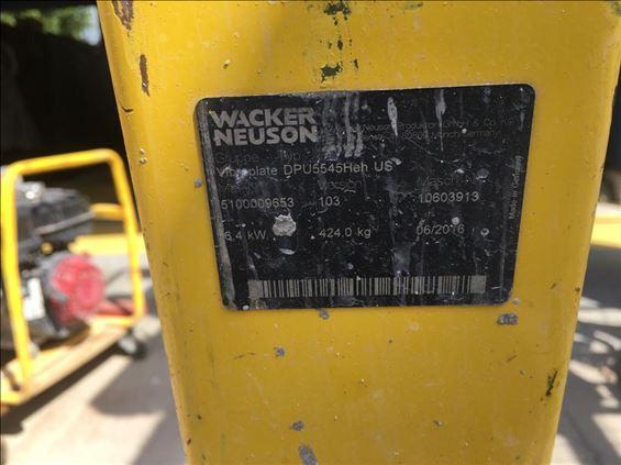 2016 Wacker Neuson DPU 5545HE Plate Compactor