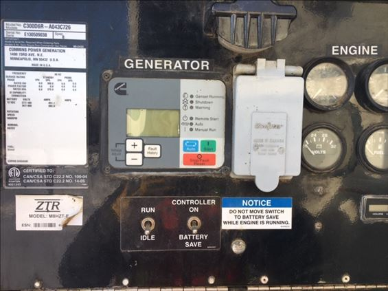 2013 Cummins C300D6RG Diesel Generator
