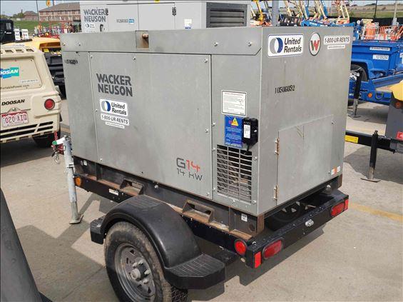 2016 Wacker Neuson G14 Portable Generator