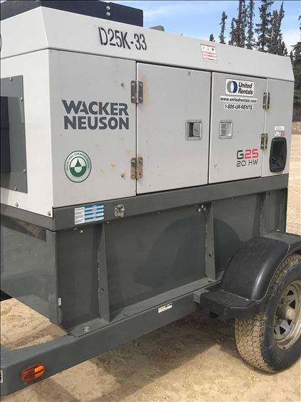 2014 Wacker Neuson G 25 Diesel Generator