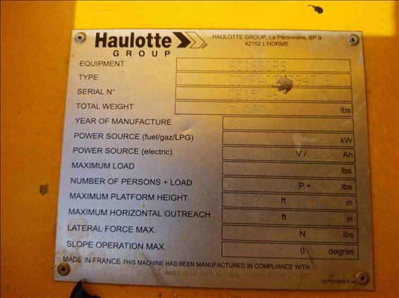 2014 HAULOTTE 3947E Scissor Lift