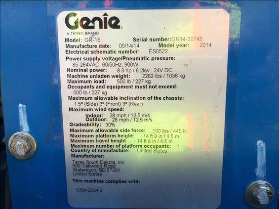 2014 Genie GR-15 Scissor Lift