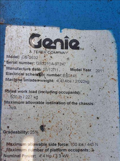 2011 Genie GS-2632 Scissor Lift