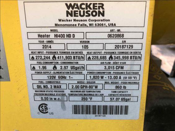 2014 Wacker Neuson HI400HD D