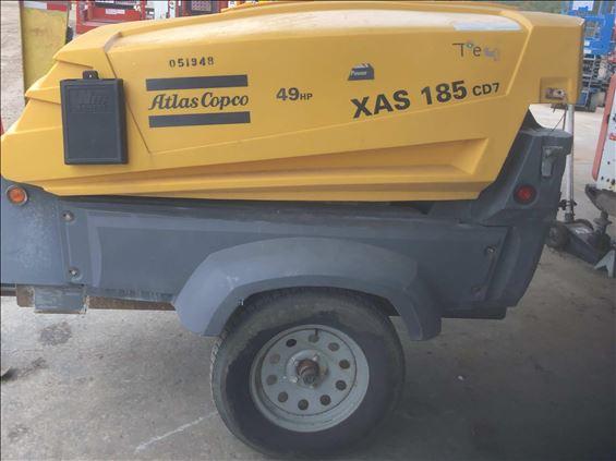 2016 Atlas Copco XAS185CDPET4 Air Compressor