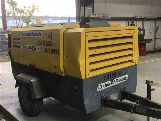 2013 Atlas Copco XAS400JD7 Air Compressor