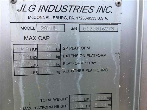 2011 JLG 20MVL Scissor Lift