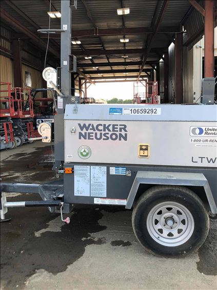 2017 Wacker Neuson LTW8K Towable Light Tower