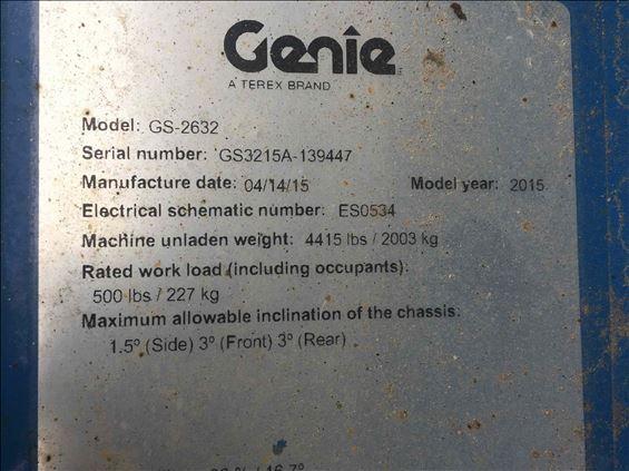 2015 Genie GS-2632 Scissor Lift