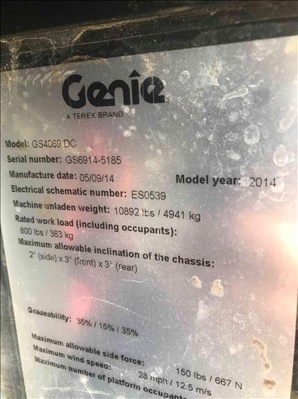 2014 Genie GS-4069DC Scissor Lift