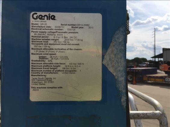 2013 Genie GR-20 Scissor Lift